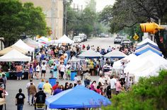 Four times a year, as many as 100 vendors selling arts, crafts, food, clothing, plants, collectibles, antiques and other items of interest gather in downtown Seguin for Trade Days. Vendors set up in the street around Central Park. Entertainment, historic attractions and fun for the kids is also available. Trade Days. Central Park - 201 S. Austin St. 830-401-5000.