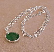 OOAK Artisan MadeFaceted Green Onyx Gemstone by GardenGateDesigns