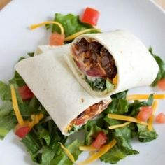 Spicy Bean Burritos. A meatless meal the whole family will enjoy (+ a freezer friendly version). #foodgawker