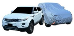 Topline Autopart 4850Mm 4 Layer Universal Waterproof Suv Car Cover+Mirror Pocket+Life Warranty T1
