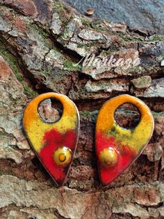 Enameled copper earring charm jewelry components