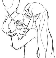 OMG ZELDA X LINK SPIDER KISS THE CUTENESS HAS MADE MY HEART OVERLOAD CX