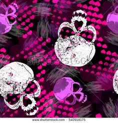 Find Seamless Pattern Halftone Hearts Strokes Skulls stock images in HD and millions of other royalty-free stock photos, illustrations and vectors in the Shutterstock collection. Skull Wallpaper, Cool Wallpaper, Wallpaper Backgrounds, Sugar Skull Artwork, Sugar Skulls, Love Coloring Pages, Skull And Bones, Fabric Decor, Cute Wallpapers