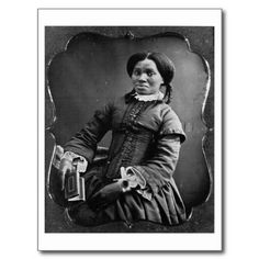 Portrait of African American Woman 1850 Postcards