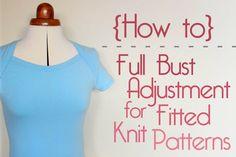 How To Do A Full Bust Adjustment (FBA) For Fitted Knit Patterns - Jennifer Lauren Vintage