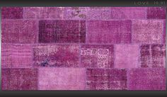 Over dyed rugs, patchwork rugs, provided by LA based manufacturer of handmade modern wool rugs. Patchwork Rugs, Handmade Rugs, Vintage Rugs, Wool Rug, Quilts, Retro, Comforters, Patch Quilt, Kilts