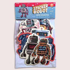Custom Sticker Robot Sticker Packs! featuring Skinner, Travis Millard, Hydro74, Yema Yema, Zombie Yeti, Reuben Rude and Morning Breath Inc.