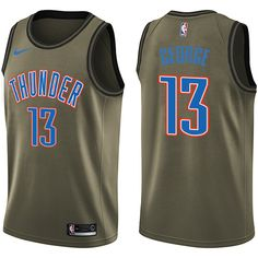 a3feaf477 Nike Thunder  13 Paul George Green Salute to Service NBA Swingman Jersey  Los Ángeles Lakers