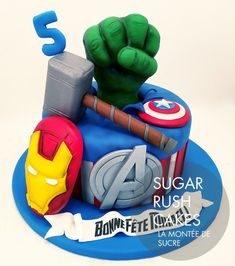 Beautiful Image of Avenger Birthday Cakes . Avenger Birthday Cakes Avengers Birthday Cake Sugar Rush Cakes Montreal Source by images Avengers Birthday Cakes, Hulk Birthday, Themed Birthday Cakes, Superhero Birthday Party, Birthday Cupcakes, 5th Birthday, Birthday Ideas, Avenger Party, Avenger Cake