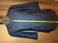 Neon zipper on denim dress