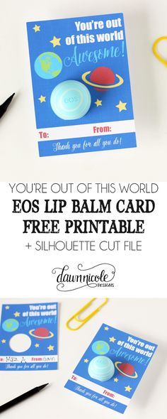 c3de1016403 EOS Lip Balm Card Printable + Cut File. Teachers Day ...