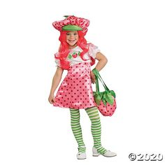 About Costume Shop Strawberry Shortcake Costume - Strawberry Shortcake Deluxe Toddler CostumeBerry Cute!Costume includes: Dress, stockings and hat.Sizes available: Toddler Small*Purse andwigNOT included.Product Page Kids Costumes Girls, Halloween Costumes For Girls, Baby Costumes, Halloween Kids, Halloween Party, Funny Costumes, Homemade Halloween, Halloween 2020, Halloween Stuff