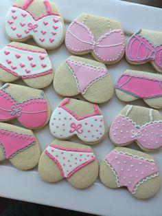 46 ideas beach bridal shower cupcakes sugar cookies for 2019 Iced Cookies, Royal Icing Cookies, Cupcake Cookies, Cupcake Toppers, Bikini Cookies, Lingerie Cookies, Bridal Shower Cupcakes, Shower Cakes, Bachelor Cake
