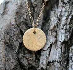 Gold Sun Necklace. $38.00, via Etsy.