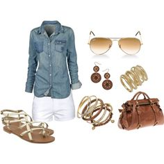 i might actually try this outfit out this summer. . .i just have to remember where i've seen a couple jean shirts