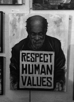 """""""Respect human values"""" ~ is a figurative painter, street artist, designer based out of South Florida USA. Graffiti, Human Values, Portraits, We Are The World, Street Artists, Banksy, Worlds Of Fun, Black Art, Urban Art"""