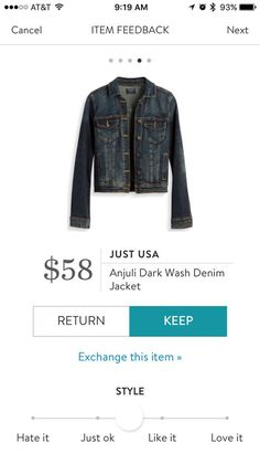 Just USA cropped Denim Jacket Stitch Fix