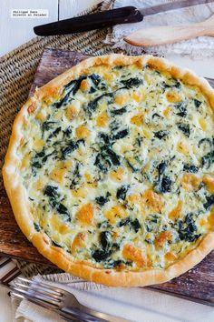 Easy and healthy recipe – Recipes Keto Quiche, Spinach Quiche Easy, Zucchini Quiche, Quiches, Veggie Recipes, Vegetarian Recipes, Cooking Recipes, Healthy Recipes, Empanadas