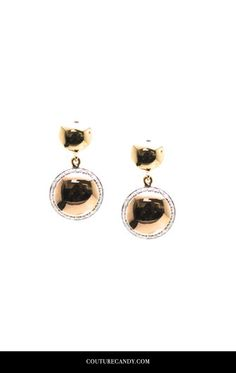 Tresor Collection - 18k Rose Gold Earring With Diamond | CoutureCandy.com