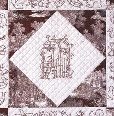 Friends at My Garden Gate Pattern by Betty Alderman: http://www.americanquilter.com/authors/pattern_view.php?id=235