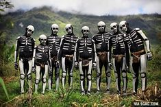 Members of the Chimbu tribe in Papua New Guinea