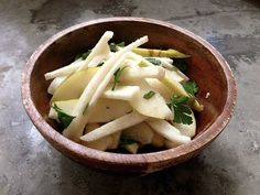 Jicama, Pear, and Mint Salad with Citrus-Ginger Dressing (Paleo/AIP)