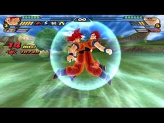 Goku Super Saiyan God in Dragon Ball Z Budokai Tenkaichi 3  | dragon