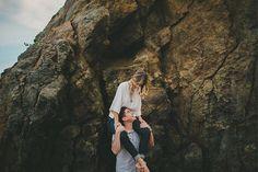Piggyback ride or let her sit on his shoulders