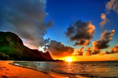 """""""God painting His storyboard on the sky."""" -- Bethany Hamilton's description of sunsets in Hawaii"""