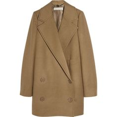 Stella McCartney Edith camel wool coat (£510) ❤ liked on Polyvore featuring outerwear, coats, jackets, coats & jackets, double breasted camel hair coat, camel double breasted coat, camel wool coat, brown coat and stella mccartney coat