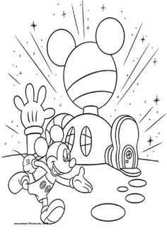 Mickey Mouse Club House Coloring Pages Football Helmet Sheets Thingkid
