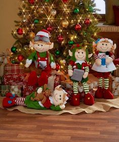 Set these Decorative Holiday Elves around your tree to wait for Santa.Set of 4 Christmas Elves 2 Ft. Tall Bendable Figures Festive Holiday Home Decor Add one of these charming Bendable for easy positioning. The legs bend so you can position them in a Diy Christmas Decorations Easy, Holiday Centerpieces, Christmas Tree Themes, Christmas Holidays, Christmas Wreaths, Christmas Crafts, Christmas Ornaments, Centerpiece Ideas, Holiday Tree