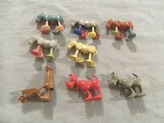 Cereal Box Toys from the 1960's REMEMBER TIPPING OUT THE CORN FLAKES JUST TO GET THE TOYS!