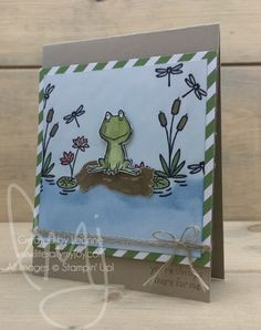 Always There | Stampin\' Up! | Love You Lots | Swan Lake | Sealed with Love #literallymyjoy #frogonalog #friendship #alwaysbeingthere #cattails #lilypads #waterlilies #dragonflies #frog #flirtyflamingo #2017OccasionsCatalog #20162017AnnualCatalog
