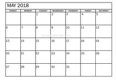 Blank Monthly Calendar Template, Blank Calendar Pages, 2018 Printable Calendar, Online Calendar, Calendar Ideas, Pdf Calendar, Calendar Templates, Calendar Design, Advent Calendar