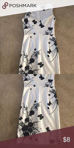 Dress Black and white sleeveless cotton dress Dresses