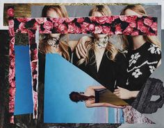 Untitled Collage © Anne Errelis-Phillips | Collage made using images from fashion magazines (mainly Vogue US and Harper's Bazaar US).