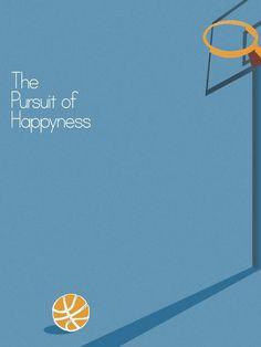 En busca de la felicidad (Cartel Minimalista)