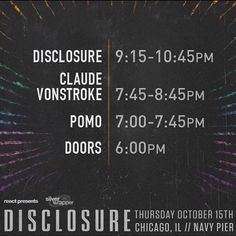 Biggest venue of the tour tonight... Chicago Thursday night partyyyyy?  @pomobeats @vonstroke by disclosure