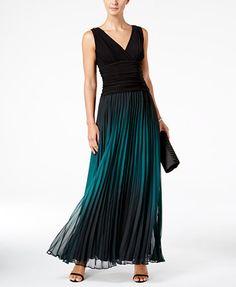 SL Fashions Ombré Pleated Gown | macys.com