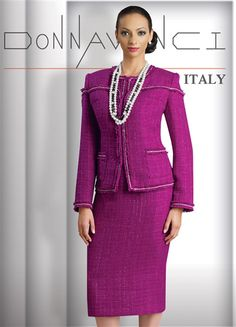 Women's Church Suits & Special Occasion Wear by Donna Vinci.  Sizes 8-26 available.