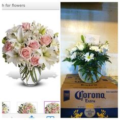 Left, the bouquet we ordered for a loved one. Right, at scale, the much smaller and shabbier bouquet we received that looks nothing like what we ordered.... #flowerfail #flowers #funny #sososad #houstonwehaveaproblem #floral #flowerarranging #bouquet #ros | by larkspurlazuli