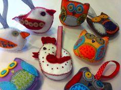 Owls and Birds felt workshop with Soreen Persent - www.inc-inc.co.uk/workshops