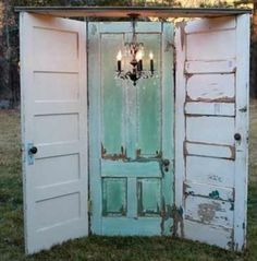 Photo Booth background old vintage doors  To cute