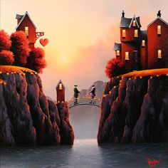 'Brdige to You' by artist David Renshaw.  Available at wyecliffe.com  http://wyecliffe.com/collections/david-renshaw-original-art/products/bridge-to-you-david-renshaw