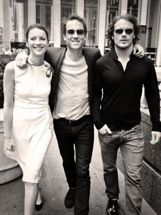 Caitriona, Tobias, and Sam  #OuitlanderCast <-- I have a hard time even looking at Tobias in a picture like this without seeing Black Jack Randall....