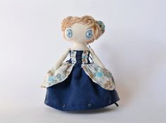 Small Fabric Doll In A Full Dress Doll Ball Gown Cloth by Amuru