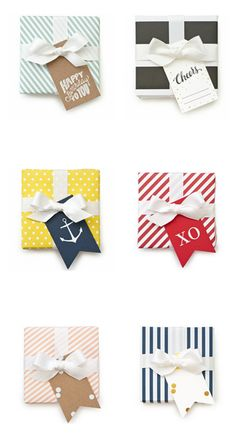 Pretty packages with gift tags