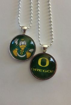 University of Oregon Ducks necklace 24 от BrumbleBerryBoutique
