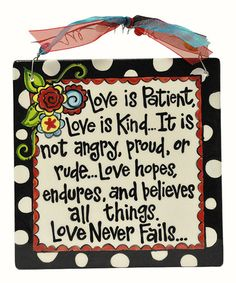 Loving this 'Love Never Fails' Tile Art on #zulily! #zulilyfinds